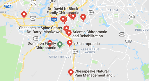 Here are some chiropractors and clinics in Chesapeake you can visit.
