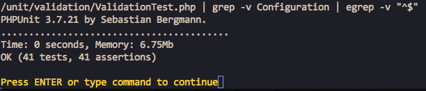 Unit test result in vim