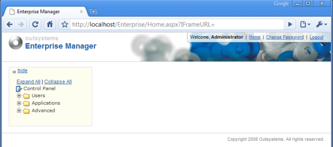 Enterprise Manager Home