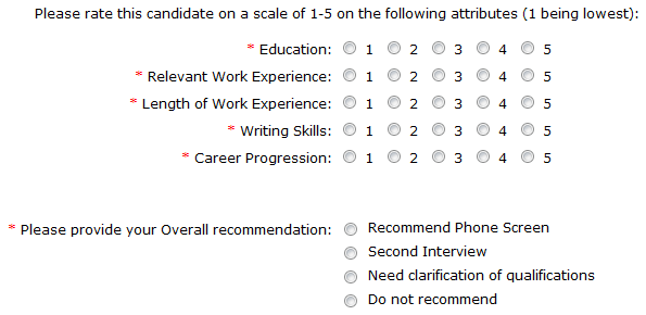 Pre interview questionnaire