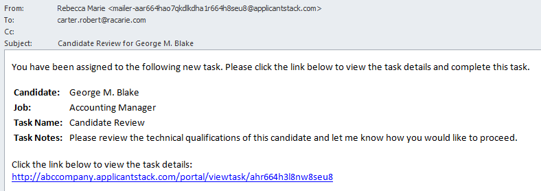 New Task Email