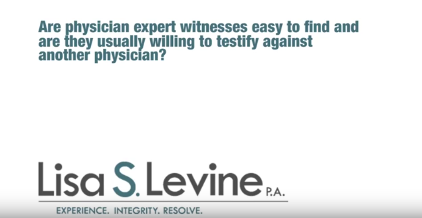 Are physician expert witnesses easy to find and are they usually willing to testify against another?