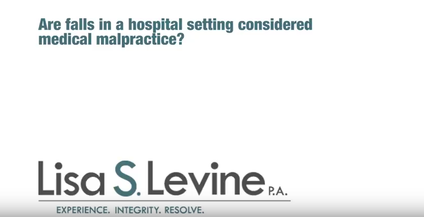 Are falls in a hospital setting considered medical malpractice?