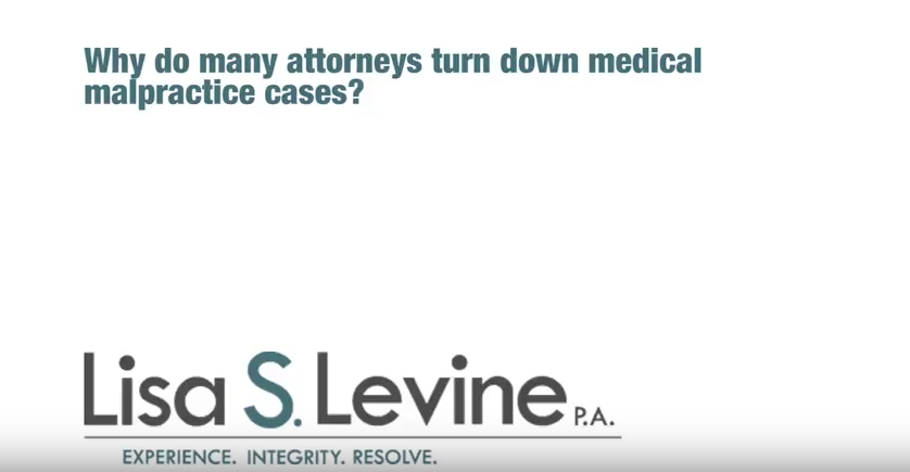 Why do many attorneys turn down medical malpractice cases?