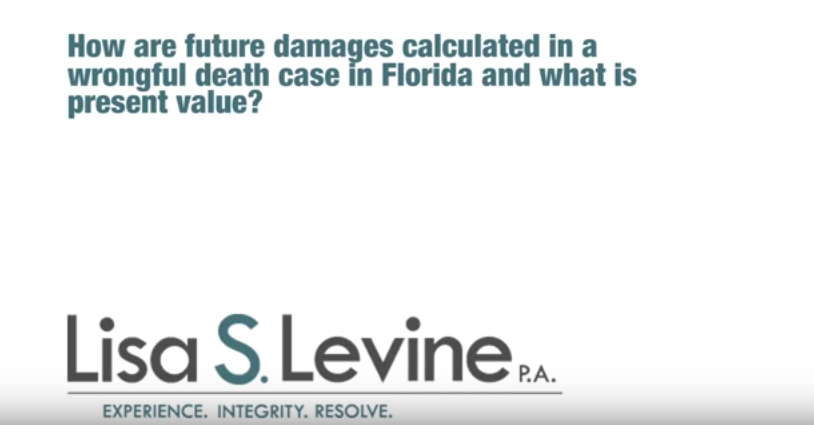 How are future damages calculated in a wrongful death case in Florida and what is present value?