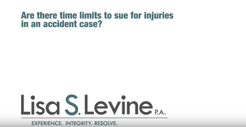 Are there time limits to sue for injuries in an accident case?