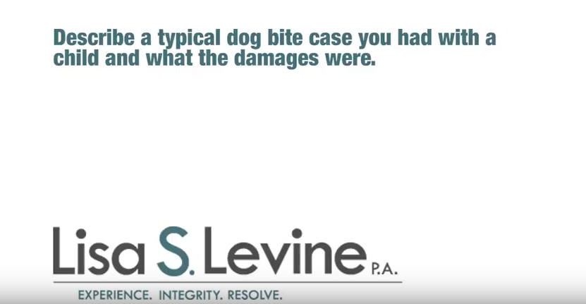Describe a typical dog bite case you had with a child and what the damages were.