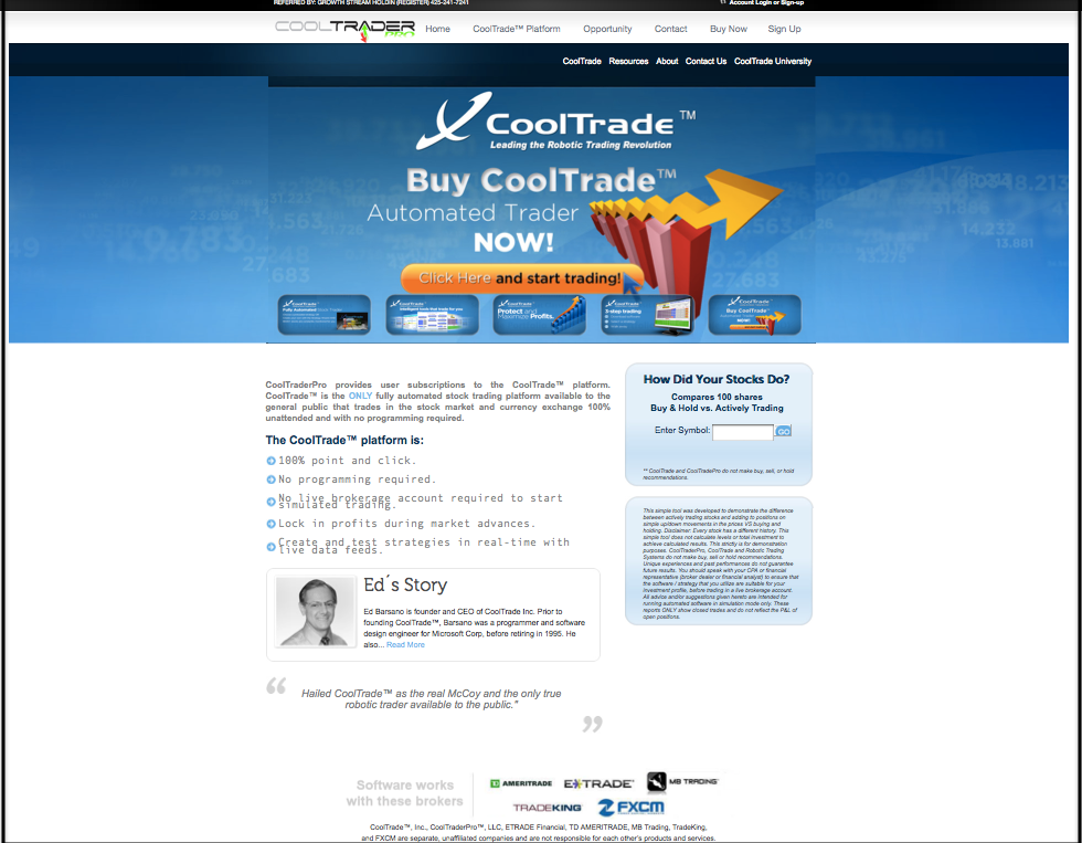 CoolTraderPro Review CTP Marketing Site