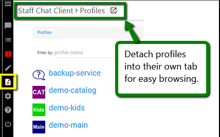 Detachable Profile Browsing