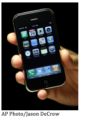 The new iPhone 4, which Consumer Reports claims has signal issues