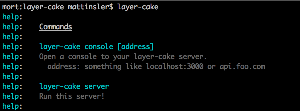 layer-cake command line image