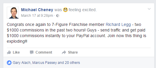 $2000 Day With 7 Figure Franchise