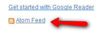 Google Reader How to share items in email signature?