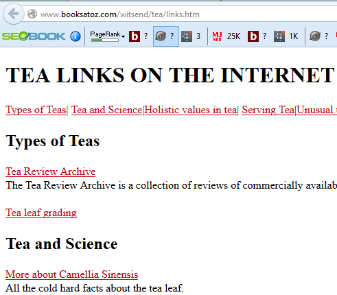 Tea Resource Page