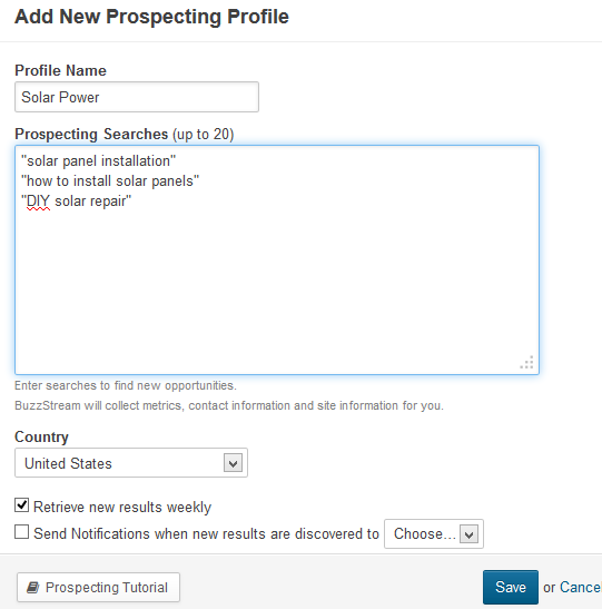 Link Prospecting Tool