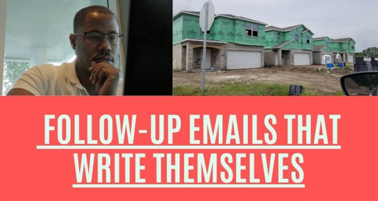 real estate email followup - following up with real estate leads