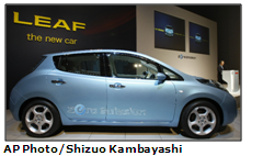 Nissan's Leaf is a zero-emission electric vehicle